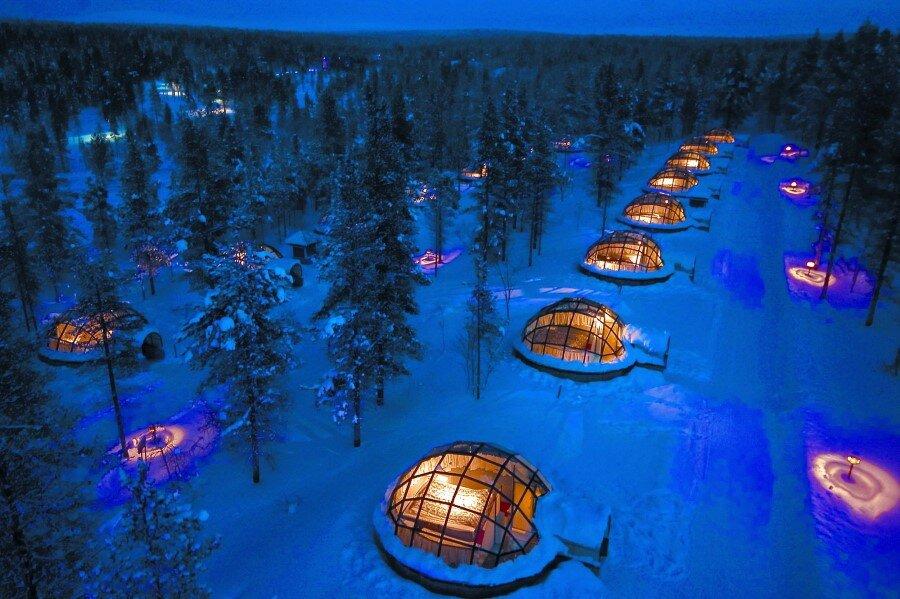 Kakslauttanen Arctic Resort in Finnish Lapland