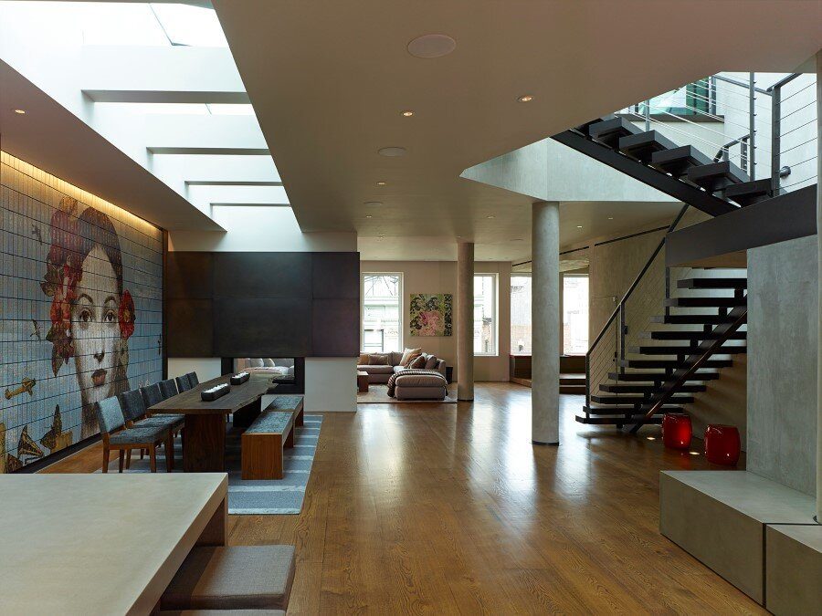 Penthouse Loft with Dramatic View of the New York City
