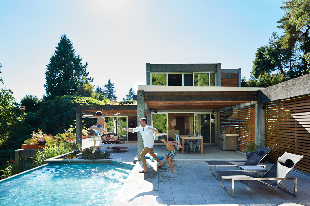 Renovations to the renowned eppich house in west vancouver for Pool design vancouver