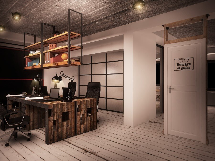 industrial style office desk. Industrial Style Office. It Office Interiors Designed By Ezzo Design (2) Desk