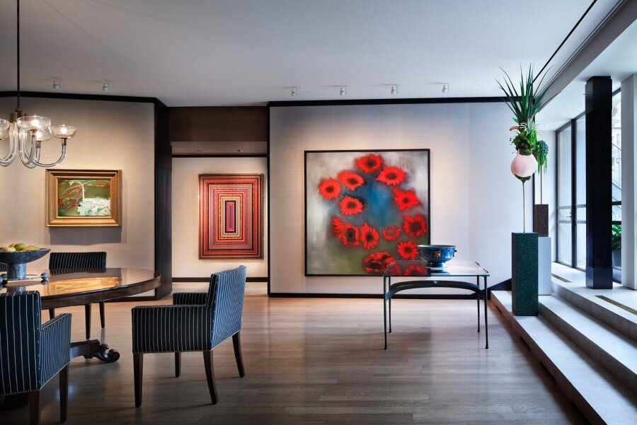 New york penthouse loft displays a beautiful collection of art for Interior design inspiration