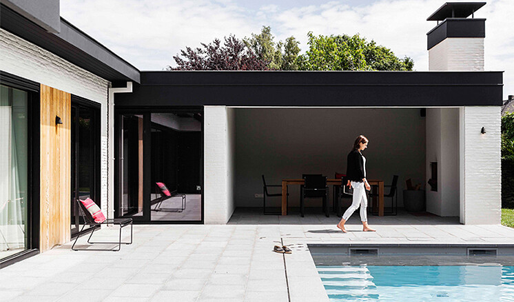 1976 Bungalow Transformed into a Contemporary Belgium Villa