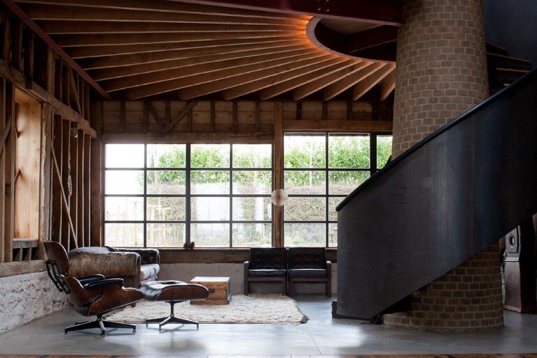 Ancient Party Barn: Playful Re-Working of Historic Agricultural Buildings