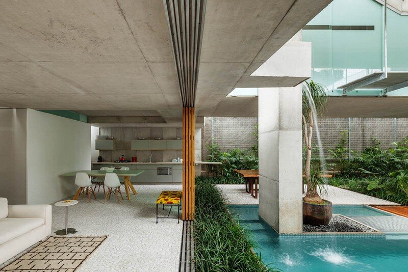 Concrete Weekend House in Downtown Sao Paulo