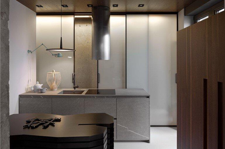Industrial Interior Design - Kenzo Flat by Olga Akulova (1)