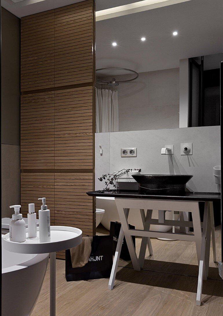 Industrial Interior Design - Kenzo Flat by Olga Akulova (10)
