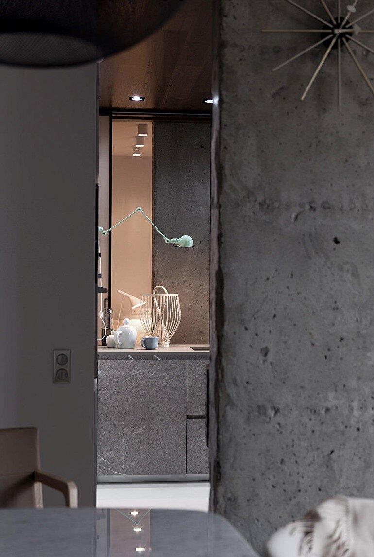 Industrial Interior Design - Kenzo Flat by Olga Akulova (14)