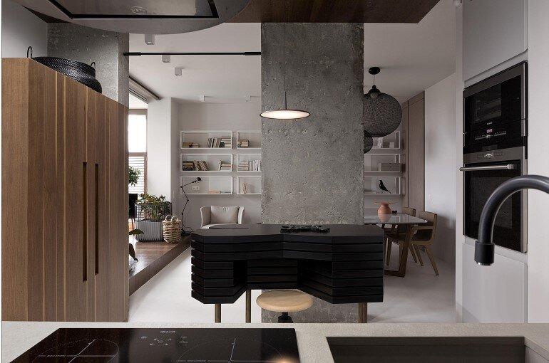 Industrial Interior Design - Kenzo Flat by Olga Akulova (2)