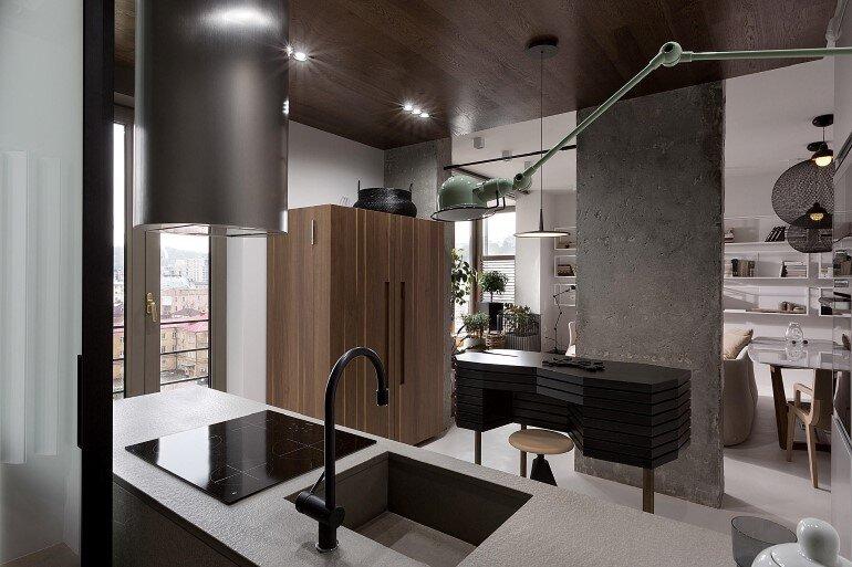 Industrial Interior Design - Kenzo Flat by Olga Akulova (3)