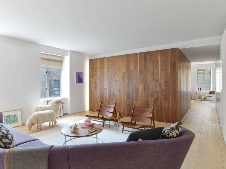 Minimalist Design and Organic Touches in Central Park West Apartment