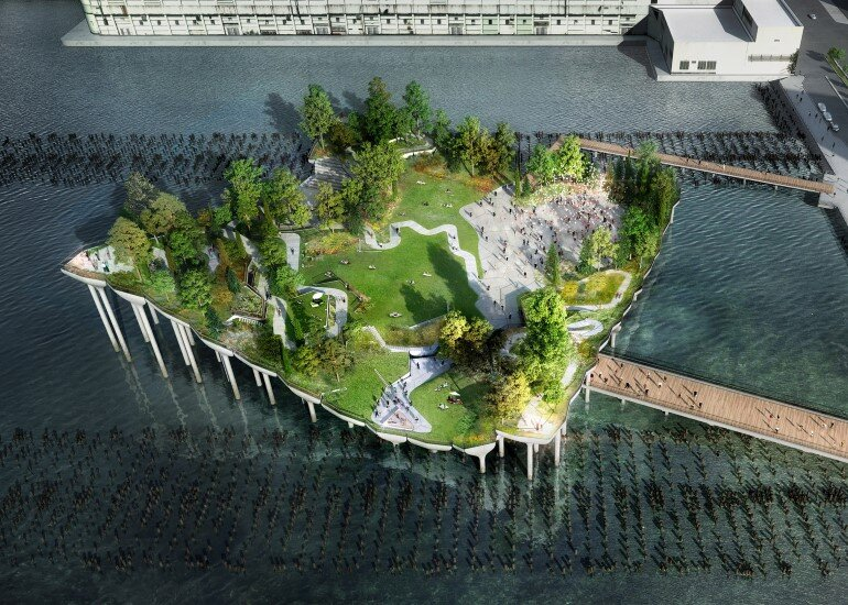 Pier 55 is a New Park and Performance Space in the Hudson River