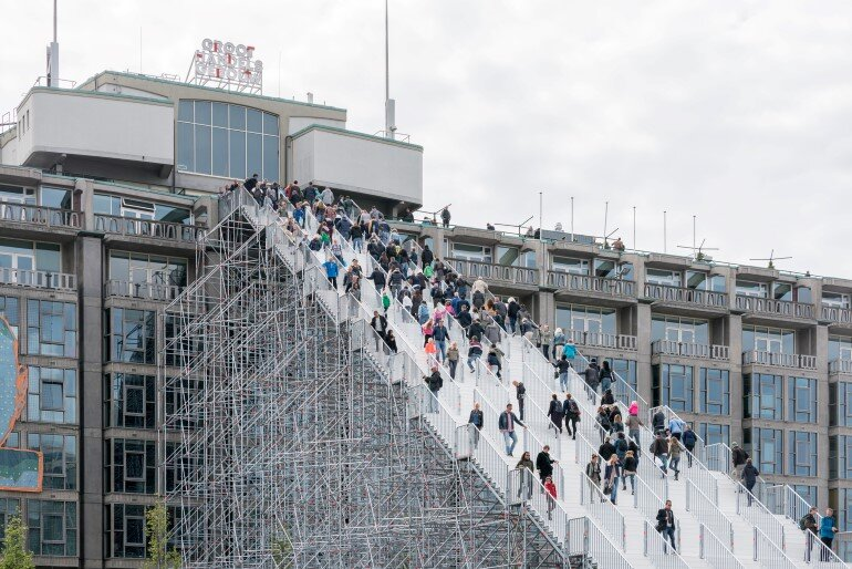 Scaffolding Structure – The  Stairs to Kriterion in Rotterdam