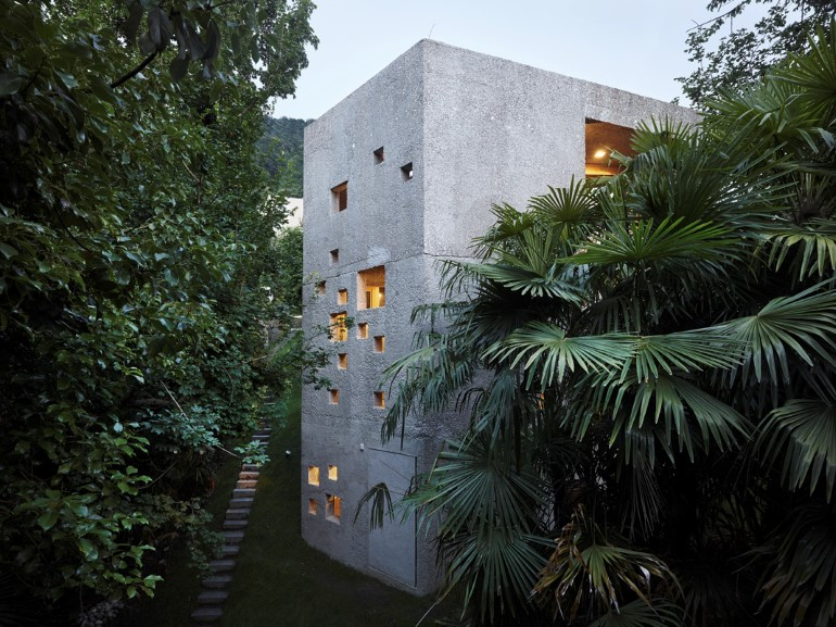 This House is Like an Archaic Stone Block in Middle of the Forest