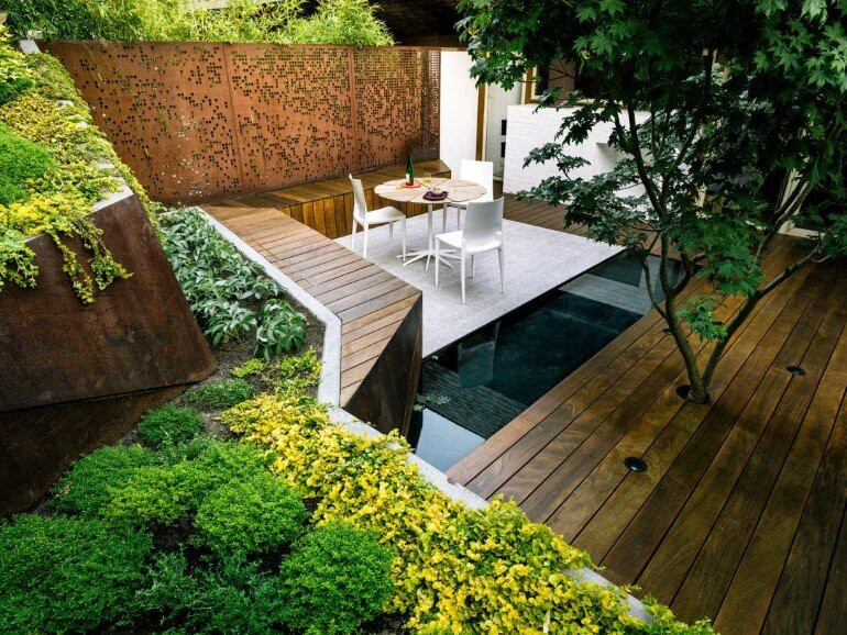 Zen Outdoor Living Space: Hilgard Garden on Garden Houses Outdoor Living id=45470