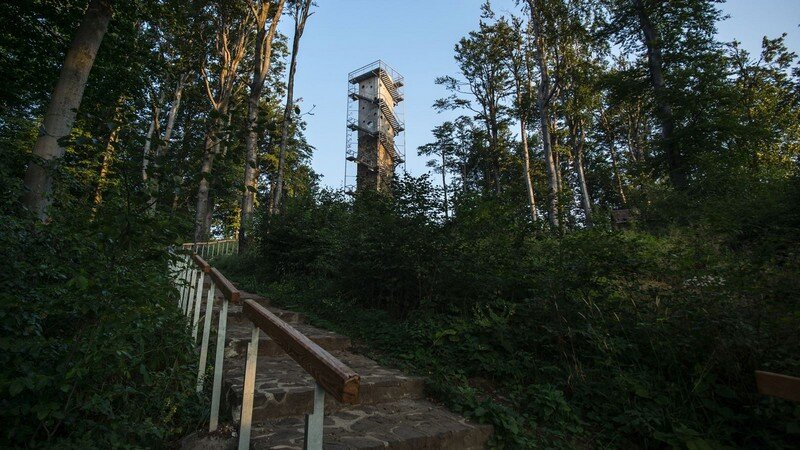 Galyateto Lookout Tower in Matra Mountains, Hungary