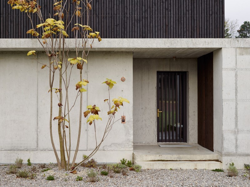 The Architecture of This Family House Combines Raw Concrete with Dark Wood (5)