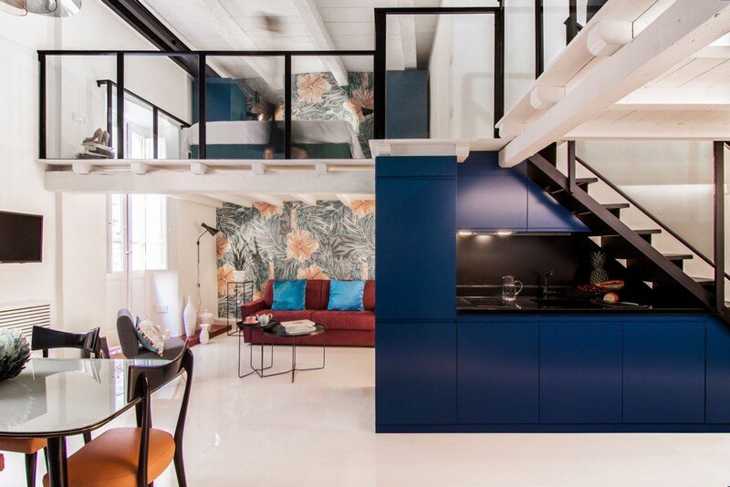 Cobalt Apartment in Cagliari by Mauro and Matteo Soddu