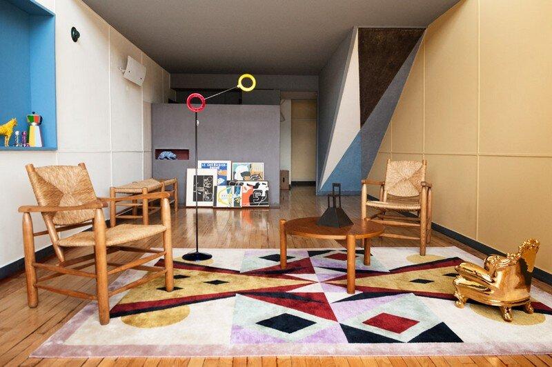 le corbusier apartment 50 at the unit d 39 habitation in marseille. Black Bedroom Furniture Sets. Home Design Ideas