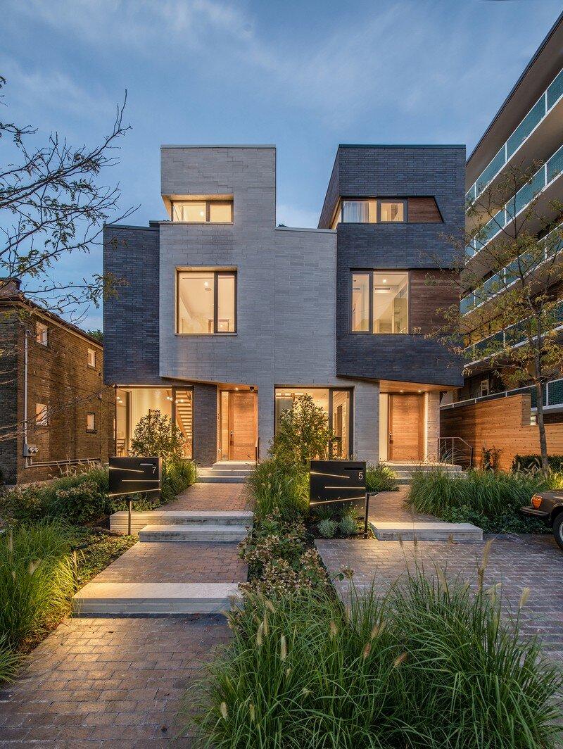 Two Slim Semi-Detached Dwellings Architects Luc Bouliane (1)