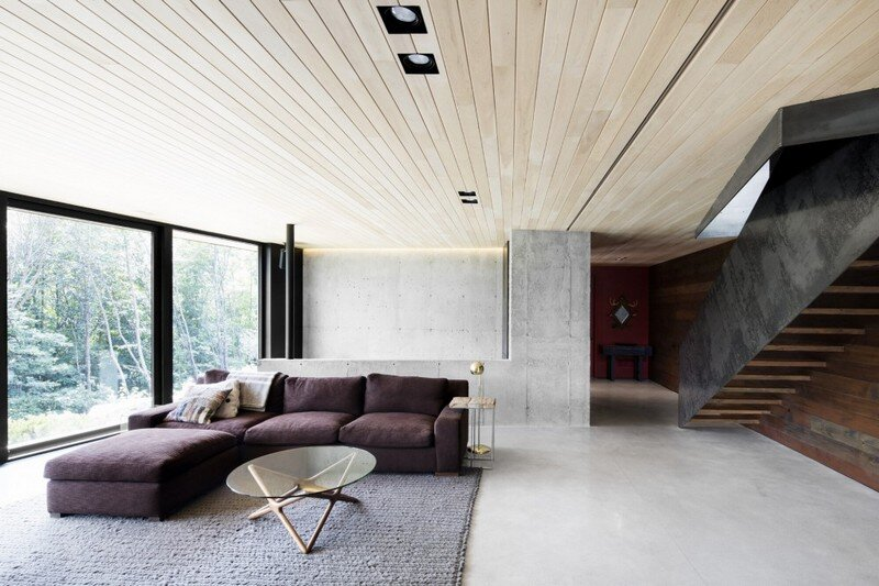 La Héronnière - Low Impact House Design by Alain Carle Architect (14)