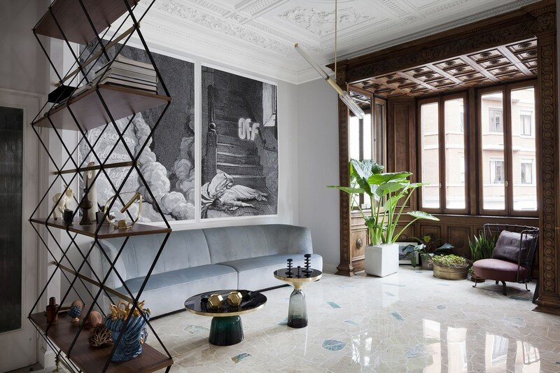 Art Nouveau Style Apartment in Milan Pietro Russo