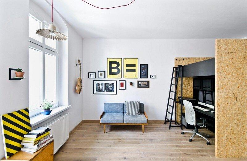 Multfunctional Space Brandburg Design Studio and Apartment in 37sqm 4