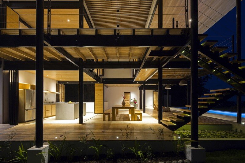 Sustainable Terrace House Almost Completely Open To The Outside (14)