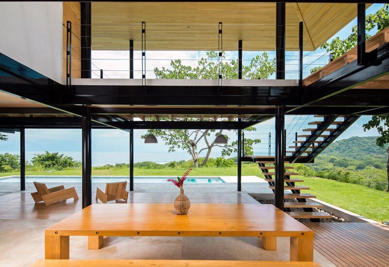 Sustainable Terrace House Almost Completely Open To The Outside (6)