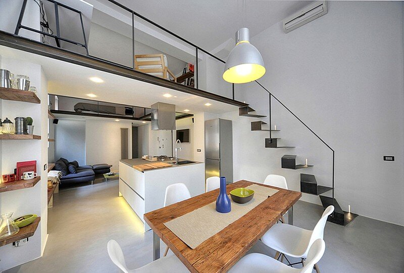 Loft 78 in roma 40 sqm apartment renovated by maurizio for Home design roma