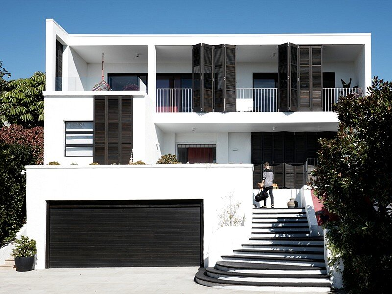 Inside Outside House – Private Retreat With a Louvered Facade