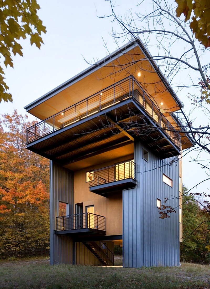 Tower House Sustainable Retreat by Prentiss Balance Wicklin