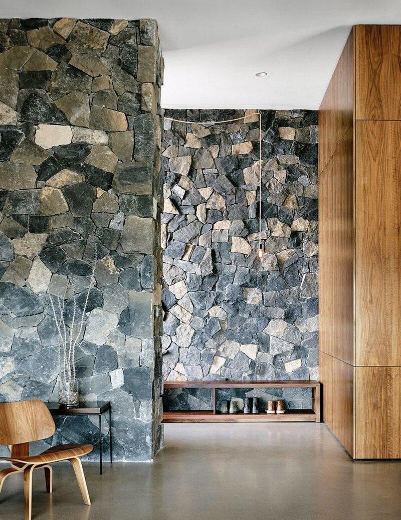 stone wall, Hazelbaker Rush