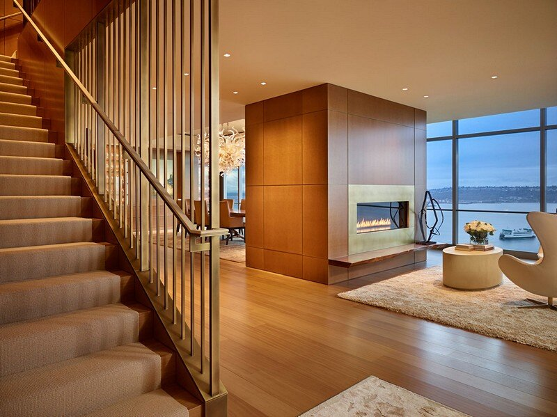 Private Penthouse in Seattle by NB Design Group