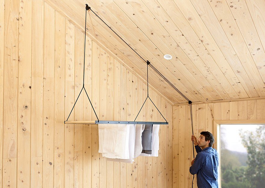 how to make a hanging clothes drying rack