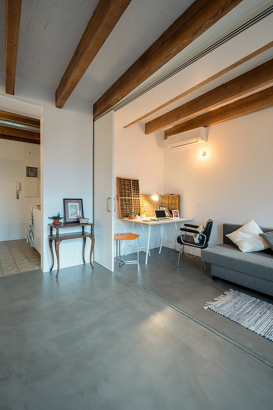 75 sqm Apartment Rehabilitation in a Old Building in Barcelona 14
