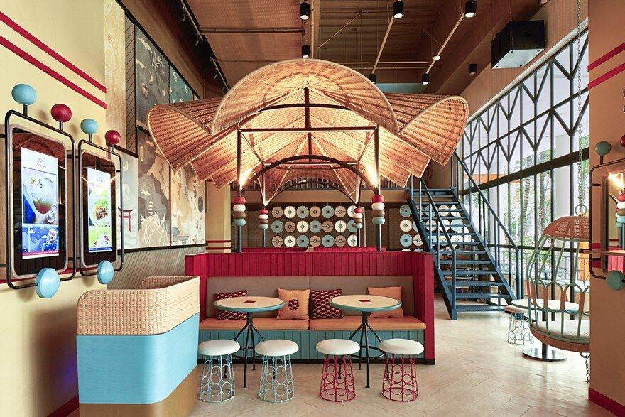Gyoza Bar is a Fusion of Japanese Comic Graphics with Eye-Popping Colors