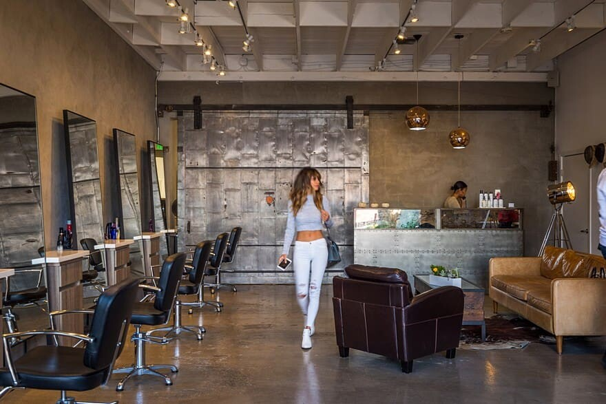 Los Angeles Stylist Salon House with an Urban Look and Feel