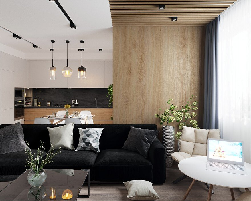 Lviv duplex apartment designed by leopolis for a young for Duplex apartment design