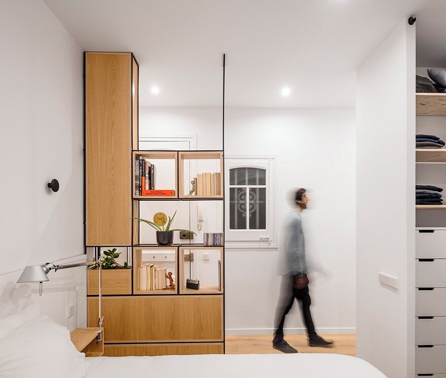 Open-Layout Apartment in Barcelona Exhibiting Fresh, Clean and Bright Design