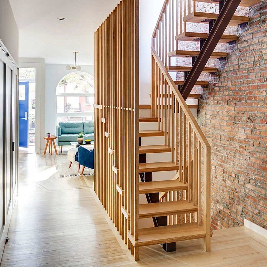 Revamped Narrow Brooklyn Row House Defined By Unique Details 3