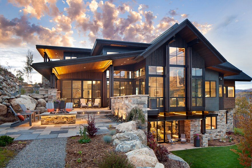 Boulder ridge mountain retreat featuring contemporary elegance - Mountain house plans dreamy holiday homes ...