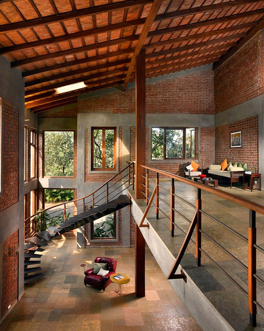 Indian Brick House with an Architectural Design Influenced ...