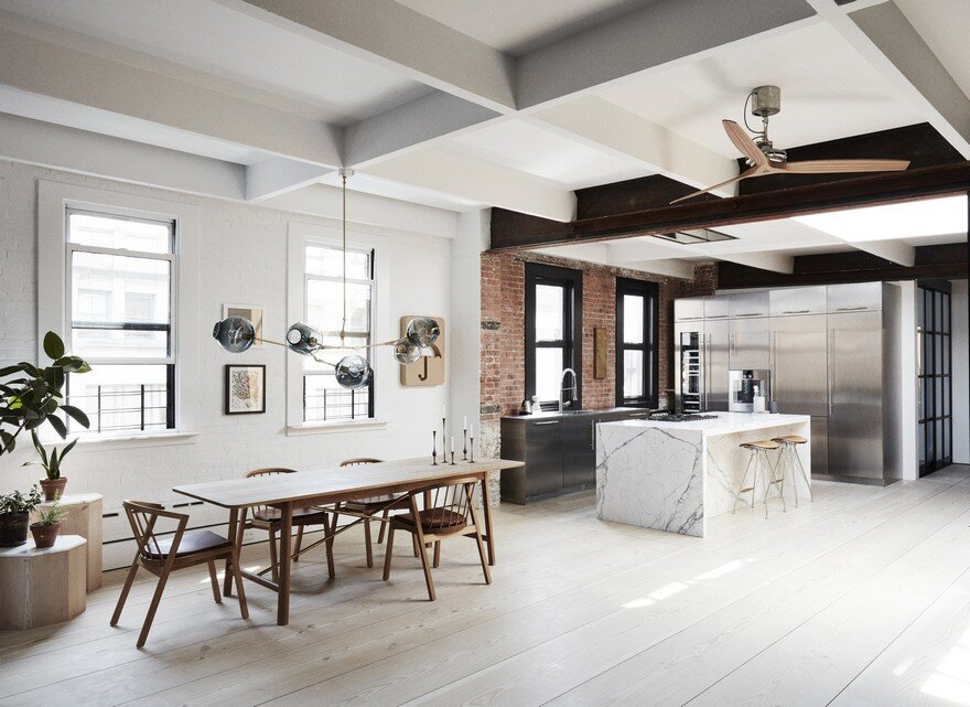 Scandinavian Minimalism Meets the Rough Aesthetics in Tribeca,