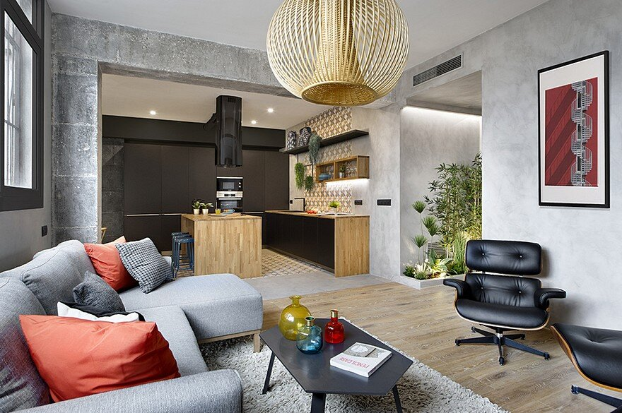 Inspiring Spanish Apartment with Raw Industrial Details 14