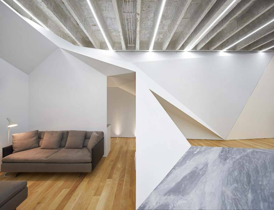 The Vortex House Has Folded Walls That Suggest Motion and Centrifugation 2