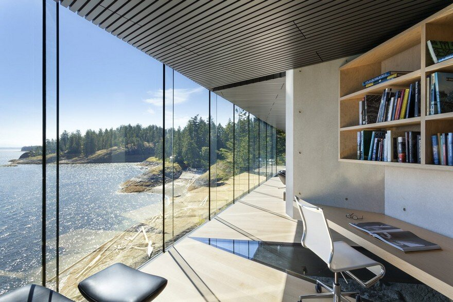 Tula House is Perched 44 Feet Above the Pacific Ocean on a Remote Island 12