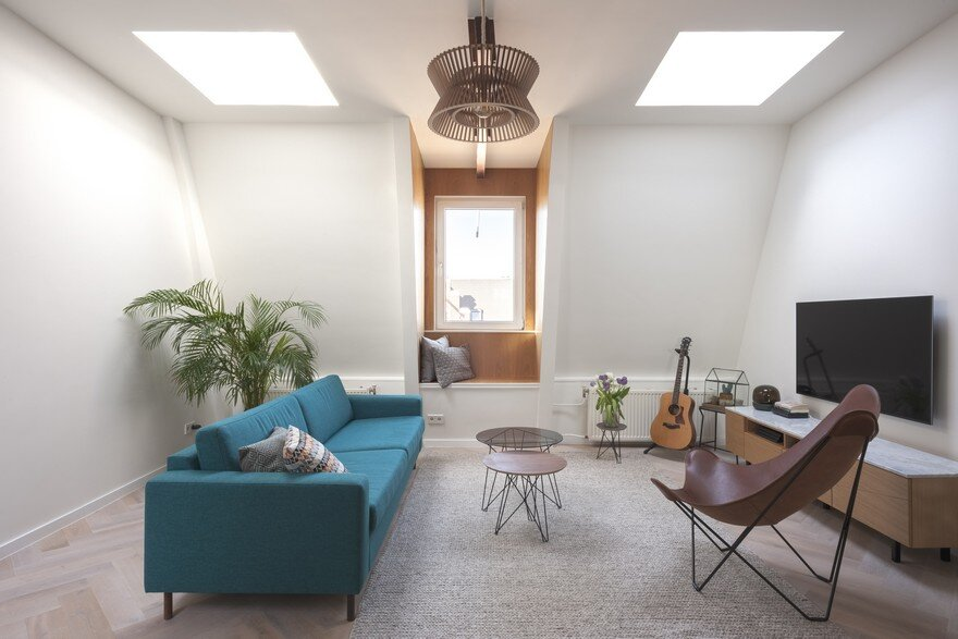 A Former Attic Storage Transformed into a Modern Apartment in Amsterdam