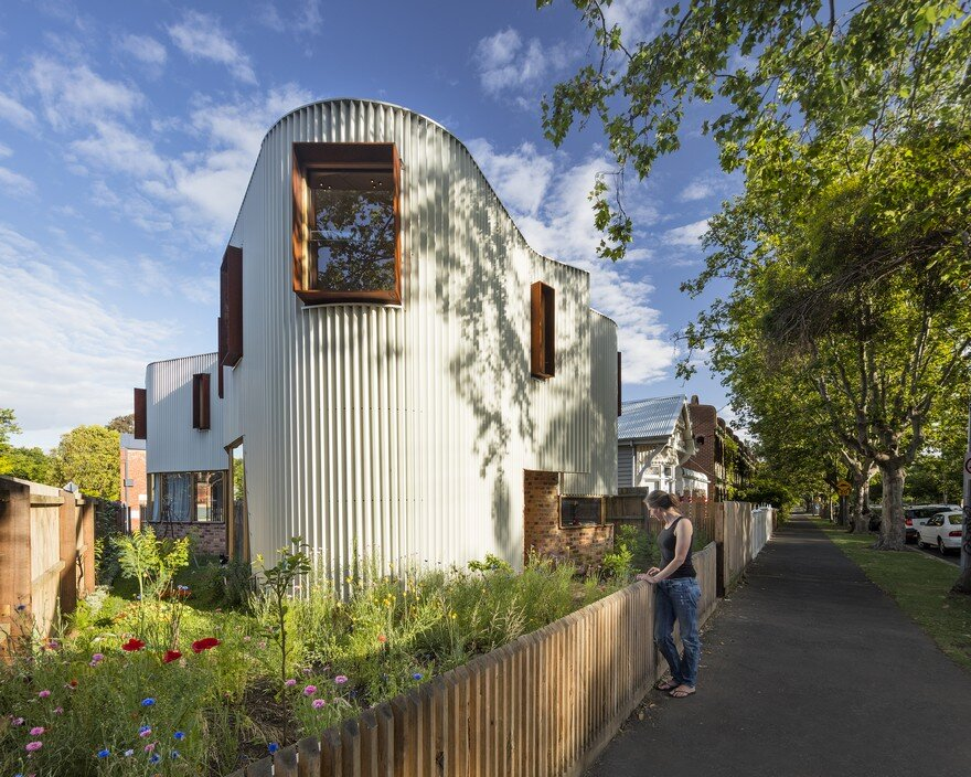 True North House Features a Unconventional Zig-Zag Metal Facade