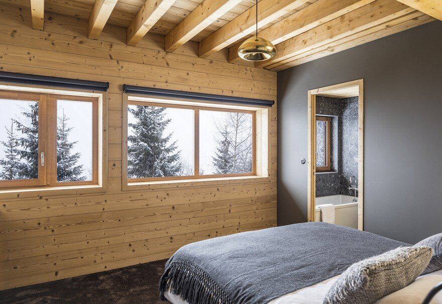 This Wooden Mountain House Features Delightful Mix of Traditional and Modern 20