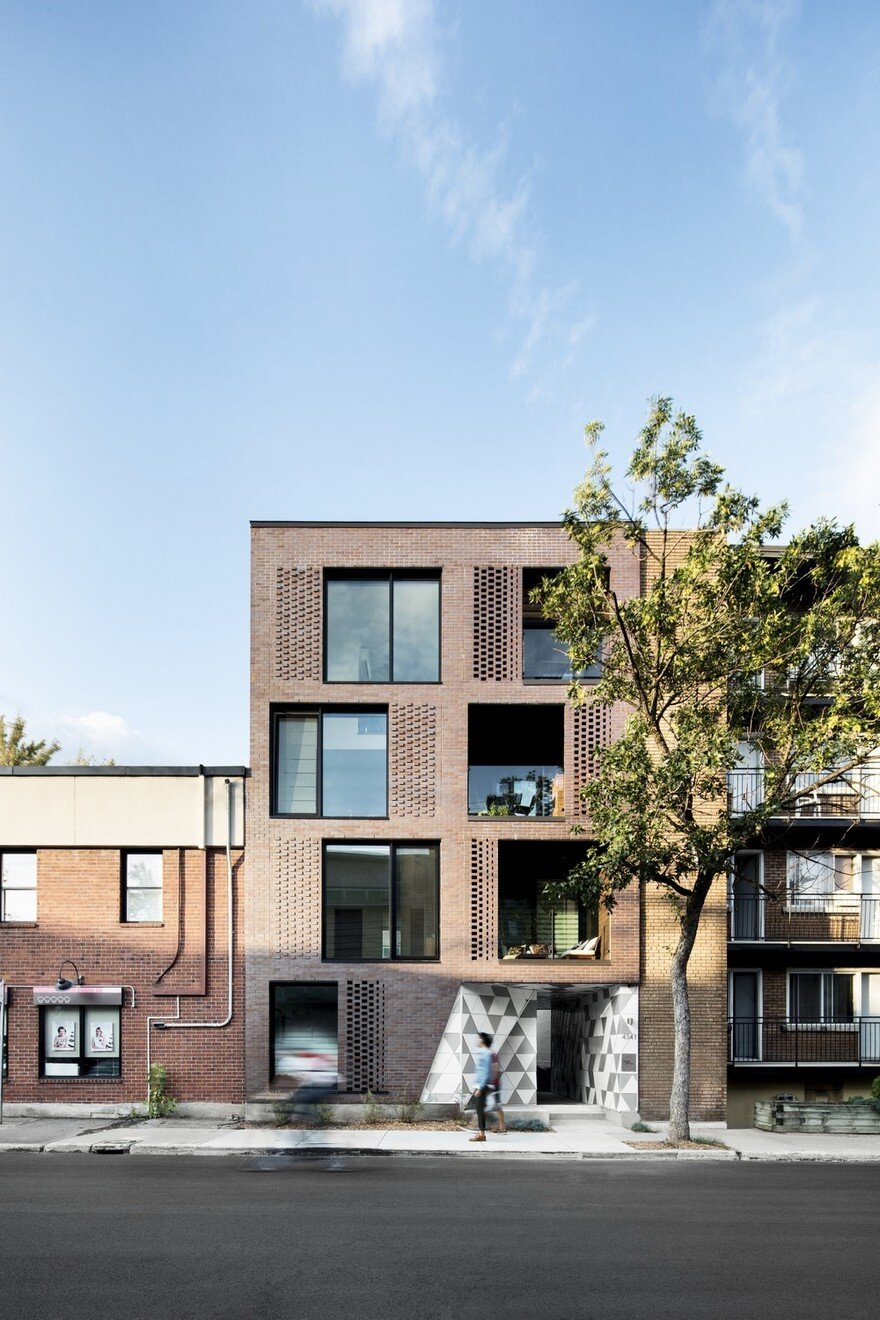 Contemporary Residential Building of Five Housing Units: La Géode by ADHOC Architects 15
